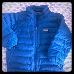 Patagonia kids down puffy coat blue SZ2